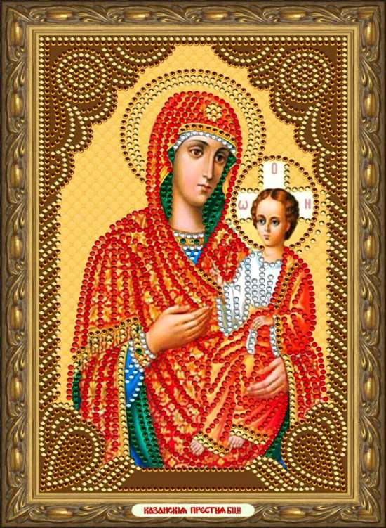 Алмазная мозаика 20x30 Казанская икона Пресвятой Богородицы