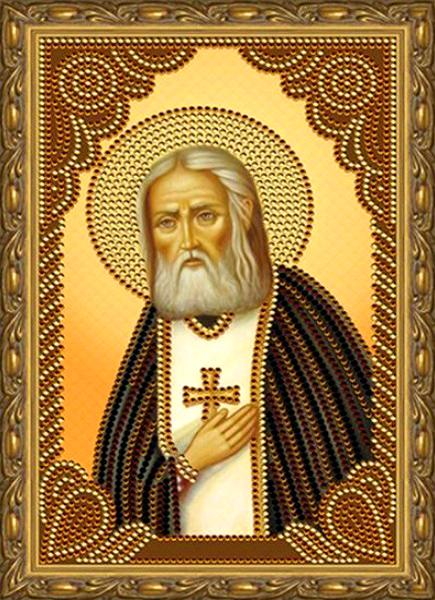 Алмазная мозаика 20x30 Преподобный Серафим Саровский
